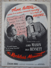 Reckless Moment (1949) - Joan Bennett | Vintage Trade Ad